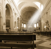 Church and sun beam Royalty Free Stock Photography