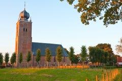 Church at sundown Stock Photo