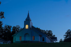 Church at Sundown. Stock Photography
