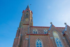 Church in sunlight in spring Royalty Free Stock Image