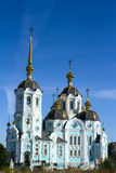 Church on sunny day. An orthodox church on sunny day on bllue sky background Royalty Free Stock Images