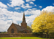 Church on a sunny spring afternoon Stock Photography