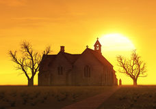 Church at sunrise Royalty Free Stock Photos