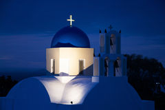 Church during Sunrise, Fira, Santorini, Greece Stock Photography