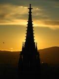 Church at sunset. Church in Vienna at sunset stock image