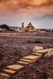 Church Sunset. A Church in Cyprus during sunset Royalty Free Stock Photo