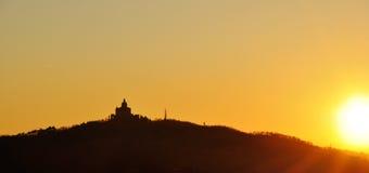 Church at sunset Stock Photo