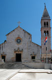 Church supetar croatia. Local parish church supetar broc island croatia stock images
