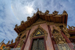 Church. The church is surrounded by a patterned Thailand stock photography