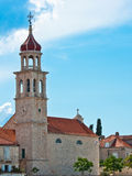 Church in Sutivan. Ancient parish church of holy Marie in Sutivan on island Brac in Croatia Royalty Free Stock Images