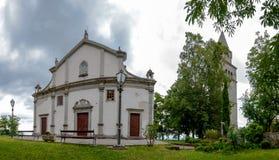 Church of Sv Vida Modesta i Kresencije panoramic view at Gracisce. Croatia royalty free stock photo