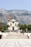 Church Sveti Marko in Makarska, Croatia. In summer stock photo