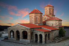 Church Sveti Naum at Sunset, royalty free stock images
