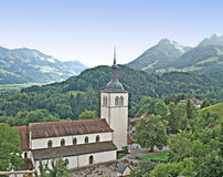 Church at Switzerland Royalty Free Stock Photography