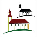 Church symbol Royalty Free Stock Image