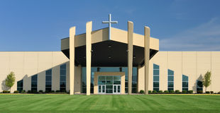 Church with symmetrical design Stock Photo