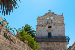 Church in Syracuse, Italy. Church of Santa Lucìa alla Badìa, on the island of Ortygia in Syracuse, Sicily stock photography