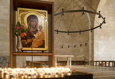 Church in Tabgha on Lake Kinneret Stock Images
