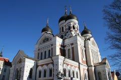 Church in Tallinn. An orthodox church in Tallinn - Toompea - old town Royalty Free Stock Image