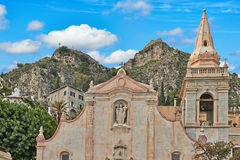 Church In Taormina. Ancient church in Sicily. The views of Sicily, Italy Stock Photo