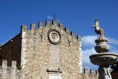 Church in Taormina, Sicily, Italy Stock Photos