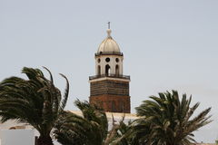 A church in Teguise. In Lanzarote Royalty Free Stock Images
