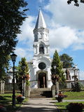 Church in Telsiai, Lithuania. Church of the Assumption of the Blessed Virgin Mary into Heaven Royalty Free Stock Images