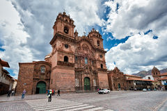 Church Temple of the Company of Jesus of Cuzco Stock Images