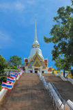 Church of Temple Khao Takiab. Walk up the stairs Church. Church of Temple Khao Takiab Royalty Free Stock Photo