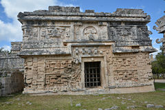 Church and temple of reliefs in Chichen Itza. Royalty Free Stock Photos