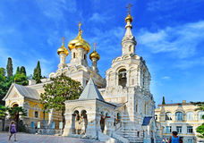Church, temple. Yalta Cathedral of St. Alexander Nevsky Royalty Free Stock Photography