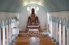 Church of Tenaun, Chiloe Island, Chile Royalty Free Stock Image