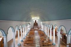 Church of Tenaun, Chiloe Island, Chile Stock Images