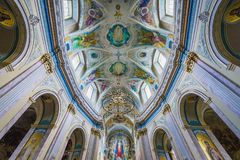 Church in Ternopil. Cathedral in Ternopil city in Ukraine, former Dominican Church Royalty Free Stock Photo