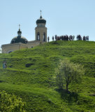 Church on the territory Khotyn Fortress Stock Photo