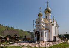 Church on the territory of the Recreation center health-improving center maral breeding farm Kaimskoye is located on the. Kaimskoye, Russia - July 18, 2015 Stock Photography