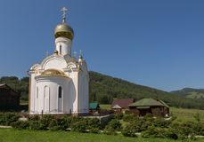 Church on the territory of the Recreation center health-improving center maral breeding farm Kaimskoye is located on the. Kaimskoye, Russia - July 18, 2015 Royalty Free Stock Photography