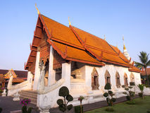 Church of Thai art temple in Nan under blue sky Royalty Free Stock Photography