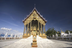 Church in Thai Temple. Royalty Free Stock Photo