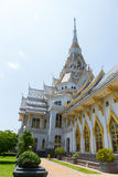 Church of Thai temple. Beautiful church of wat sothon, the famous Thai temple in Thailand royalty free stock image