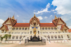Church of Thai temple with blue sky Stock Photo