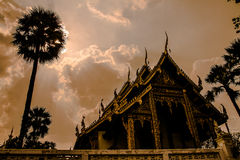 Church. Thai temple in Chiang mai province, Thailand Royalty Free Stock Images