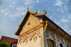 Church in Thai temple Royalty Free Stock Images