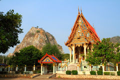Church of Thailand built into the hillside Stock Photography