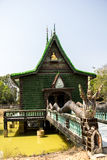 Church of Thailand, Green, Temple Thailand, Thailand culture, pe Royalty Free Stock Images