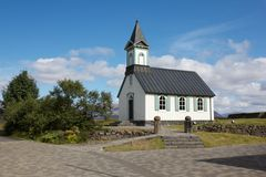 Church at Thingvellir Royalty Free Stock Photo