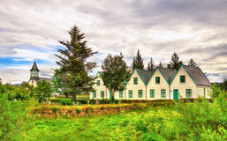 Church in Thingvellir National Park - Iceland Royalty Free Stock Images