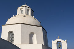 Church in Thira . Stock Photo