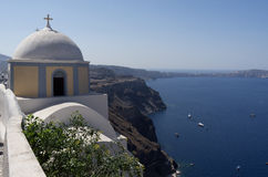 Church in Thira. Royalty Free Stock Image
