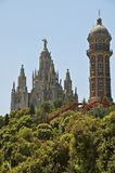 Church on Tibidabo Barcelona Royalty Free Stock Image